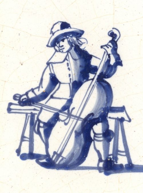 Grauda tegel cellist uitsnede